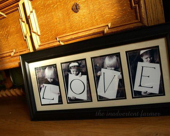 Love craft photo frame kids
