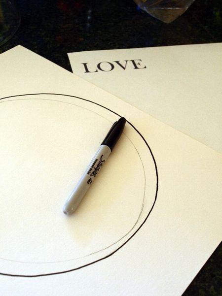 Sharpie O draw love