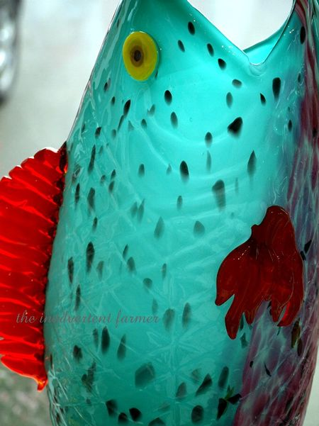 Hand blown glass fish