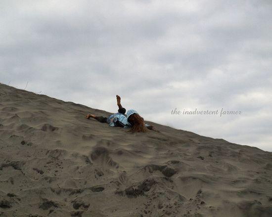 Girl beach oregon coast bare feet
