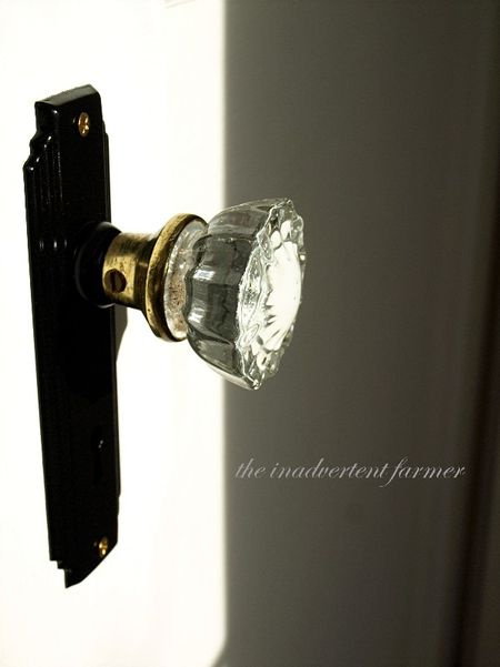Glass door knob old house vintage antique