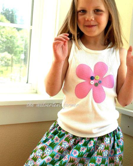 Flower girl sweet pink buttons