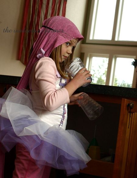 Silly pink ballerina princess tutu head scarf
