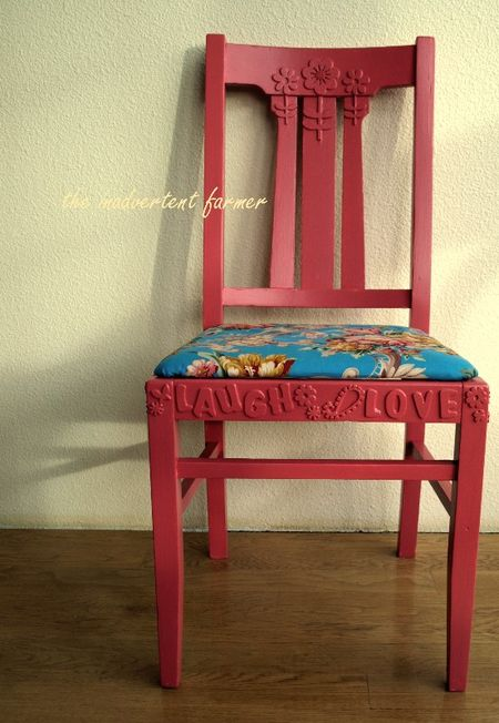 Chair love laugh pink