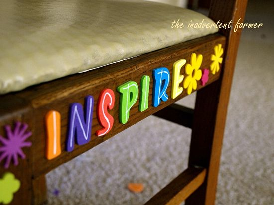 Foam letters word inspire craft stickers