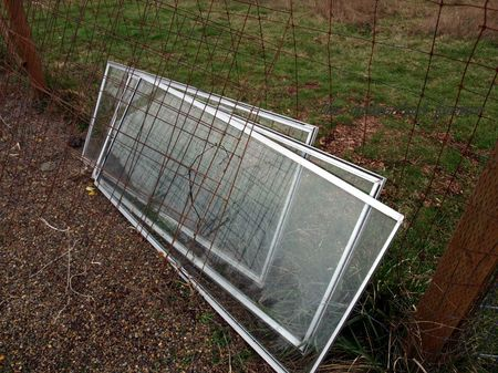 Winter garden cold frame sashes