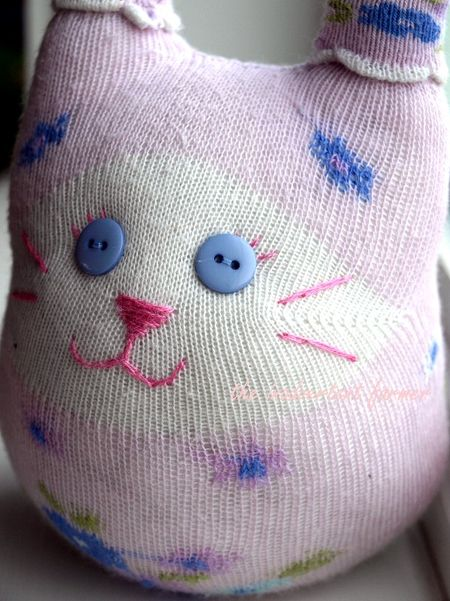 Sock kitty craft face