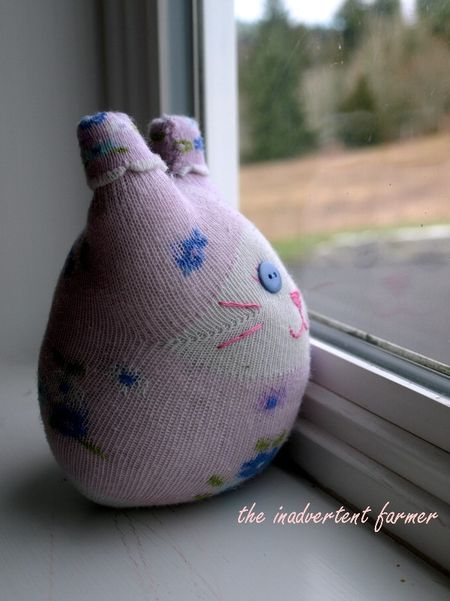 Sock kitty craft window