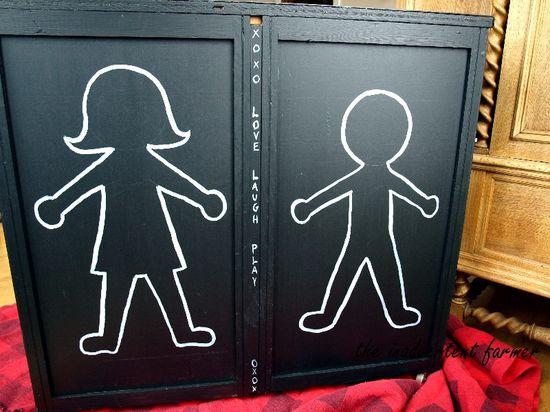 Chalkboard dresser boy girl