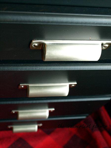 Chalkboard dresser new handles