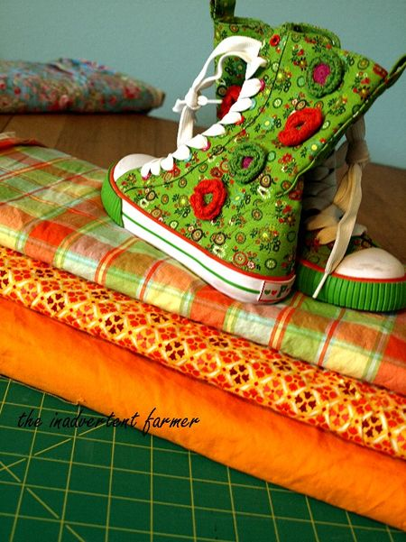 Sewing inspiration orange hightops