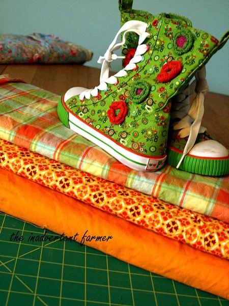 Sewing inspiration orange hightops