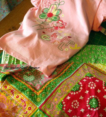 Sewing inspiration pink t-shirt