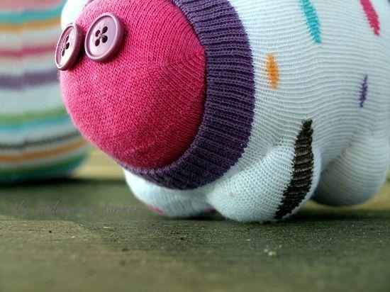 Sock monster pig feet