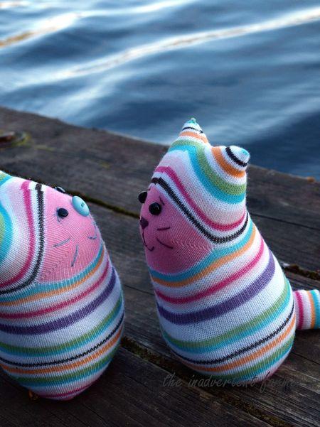 Sock monster goodbye