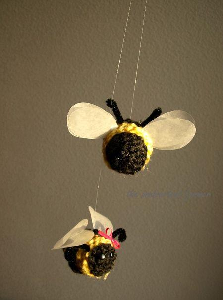Spring bee yarn kids craft10