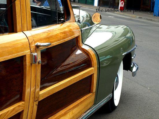 Woody hotrod chrome wagon green