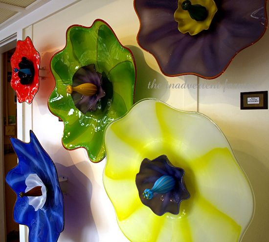 Blown glass flowers art