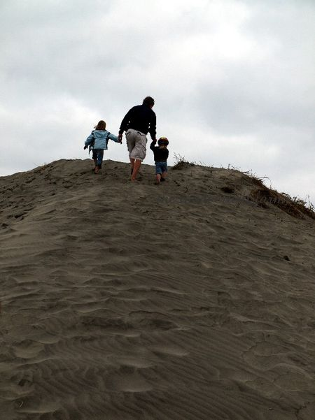 Sand dune oregon coast beach family