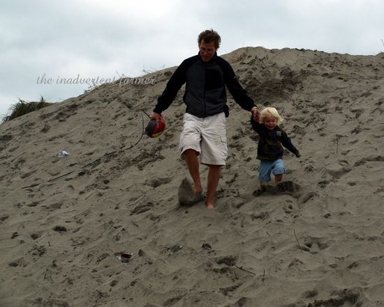 Man boy beach oregon coast sand dune