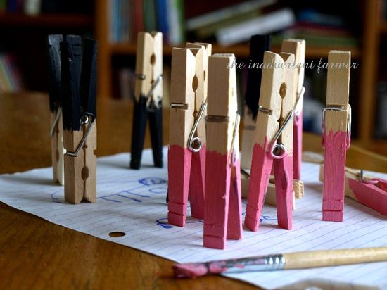 Sheep craft kids clothes pins