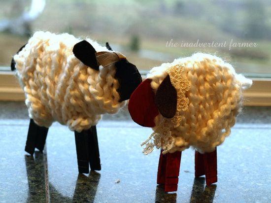Little white sheep craft easy children homeschool