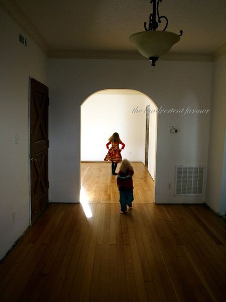 Hardwood floors old house kids dance