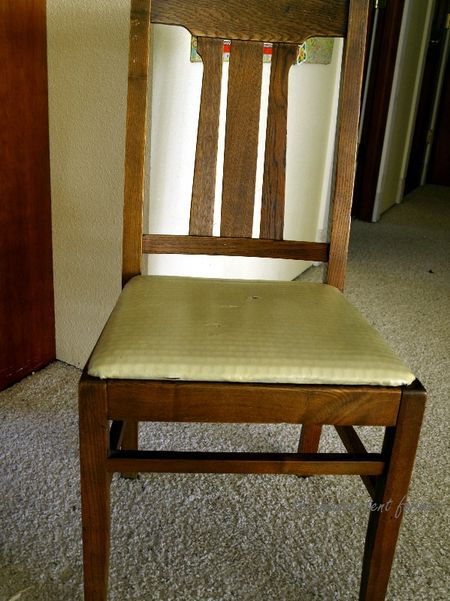 Chair oak vintage antique