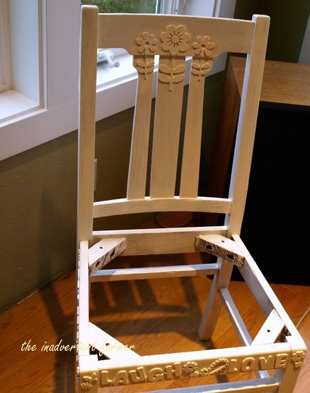 Oak chair paint prime craft