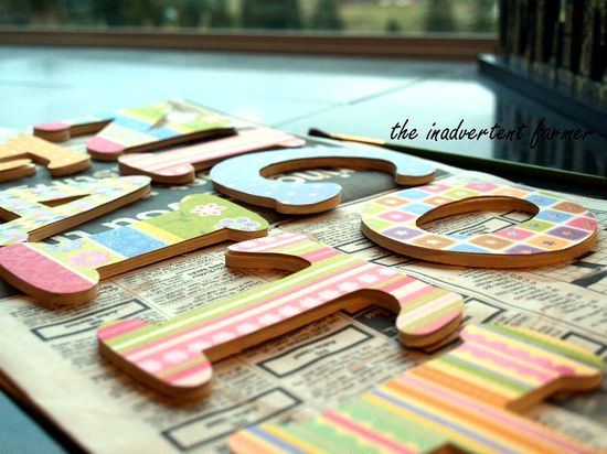 Craft letters wood baby girl