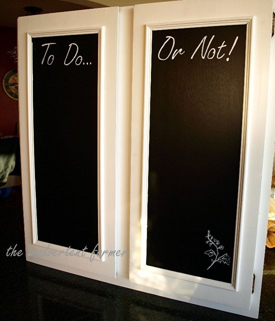 Cabinet doors chalkboard to do or not