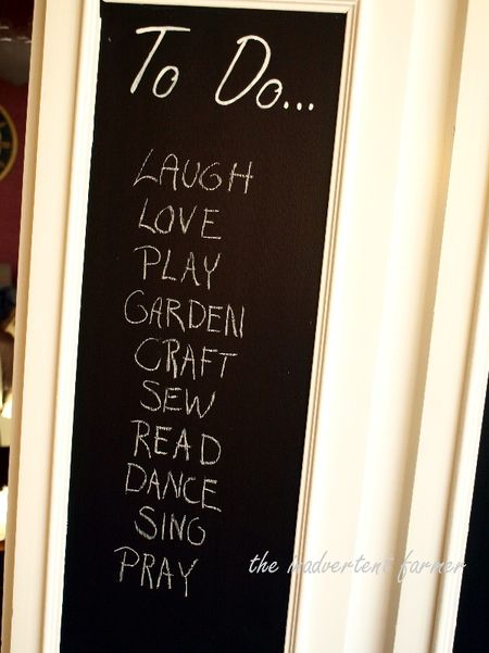 Cabinet to do list chalkboard