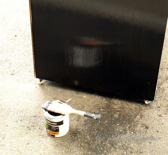 Chalkboard dresser paint