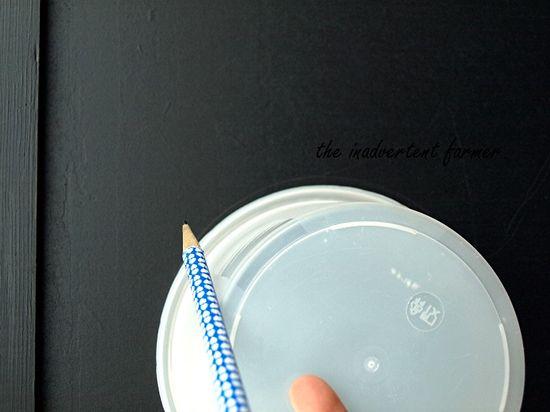 Chalkboard dresser draw circle