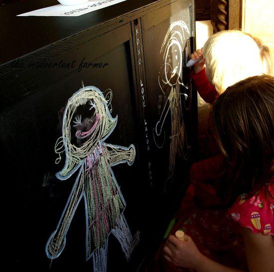 Chalkboard dresser kids