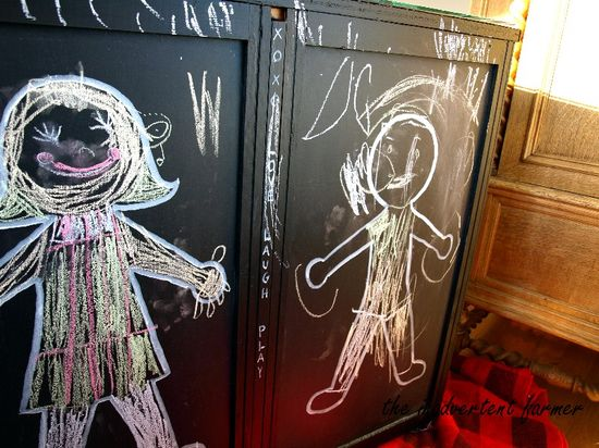 Chalkboard dresser boy girl chalk