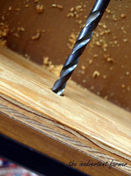 Chalkboard dresser drill