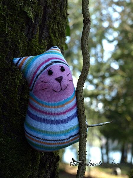 Sock monster climb tree cat vine