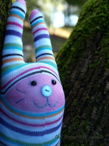 Sock monster climb tree rabbit bunny