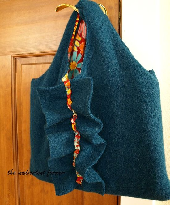 Felted wool sweater laptop bag 003