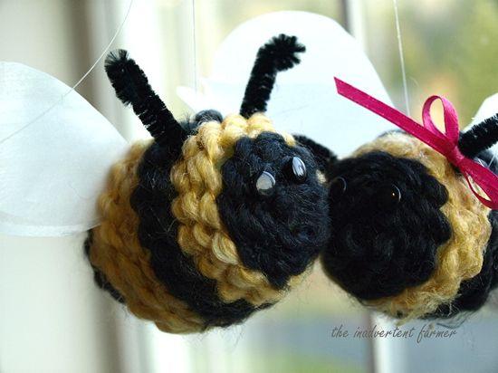 Spring bee yarn kids craft9