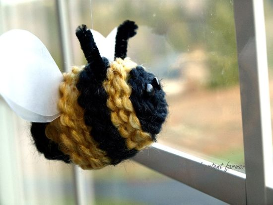 Spring bee yarn kids craft8