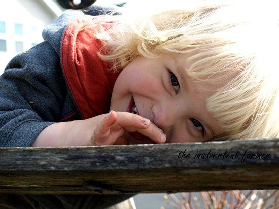 Garden day smile boy