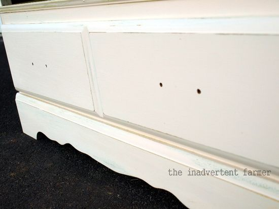 Credenza drawer distress antique