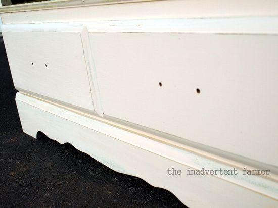 Credenza drawer distress antique