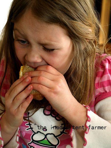 Big kids egg sandwich