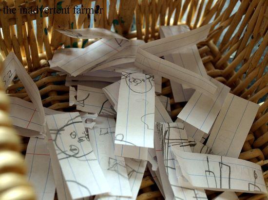 Book drawing basket