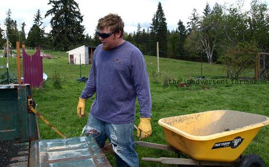 Hauling gravel biggest boy