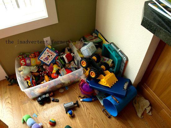 Toy corner mess