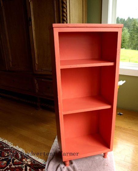 Toy cabinet coral pink paint
